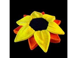 Patchwork flower cushion 3d model
