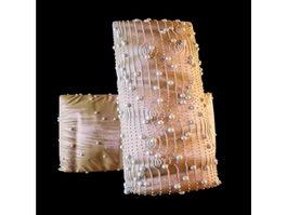 Beautiful stitching pearls pillow 3d model