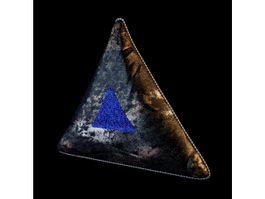 Textile pillow triangle cushion 3d model