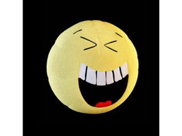 Funny face cushion 3d model