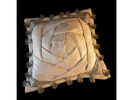 Decorative silk cushion 3d model