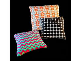 Elegant cotton pillow cotton cushion 3d model