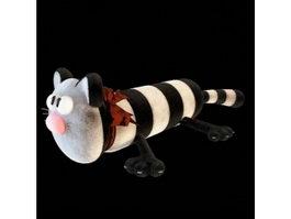 Cat stuffed pillow 3d model