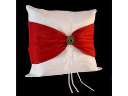 Silk fabric pillow 3d model