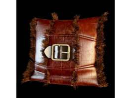 Leather pillow 3d model
