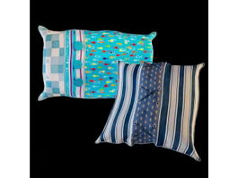 Printed home textile pillow 3d model