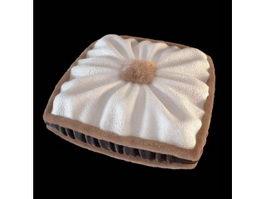 Stuffed plush pillow 3d model