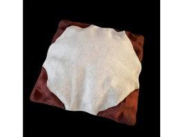 Stuffed cushion plush pillow 3d model