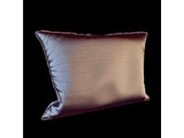 Stuffed rectangle pillow 3d model