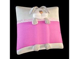 Kids animal pillow 3d model