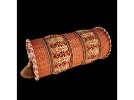 Decorative neck roll pillow 3d model