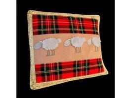 Fabric decorative throw pillow 3d model