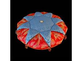 Round decorative pillow 3d model