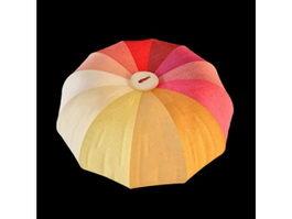 Colorful pumpkin pillow 3d model