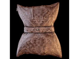 Luxurious embroidery cushion pillow 3d model