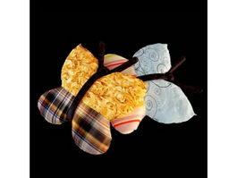 Plush butterfly throw pillows 3d model