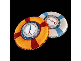 Pressure gage throw pillows 3d model