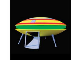 Baby toy UFO 3d model