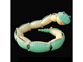 Plastic rattlesnake baby toy 3d model