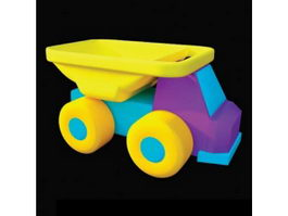 Baby toy plastic car 3d model