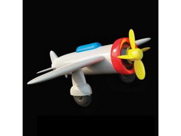 Assembled plastic toy plane 3d model