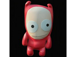 Leather toy ugly doll 3d model