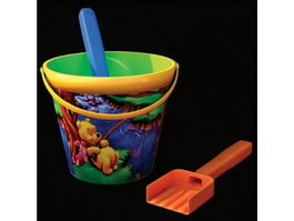 Plastic bucket and shovel toy 3d model