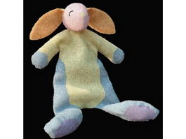 Baby plush toy rabbit 3d model