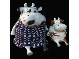 Stuffed cow soft toy 3d model