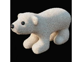 Plush toys polar bear 3d model