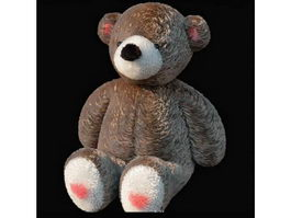 Stuffed teddy bear toy 3d model