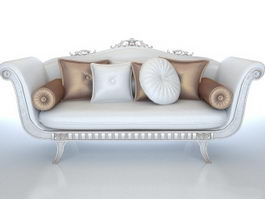 Europe type classical sofa 3d preview