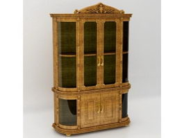 Antique french commode 3d model