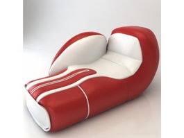 Glove shape chaise lounge 3d model