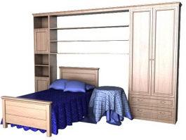 Children bedroom furniture sets 3d model