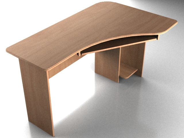 Office furniture computer desk 3d model 3dsmax 3ds for Office table 3d design