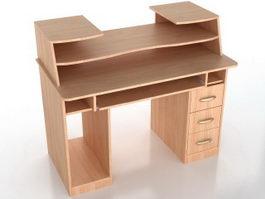Office staff desk 3d model