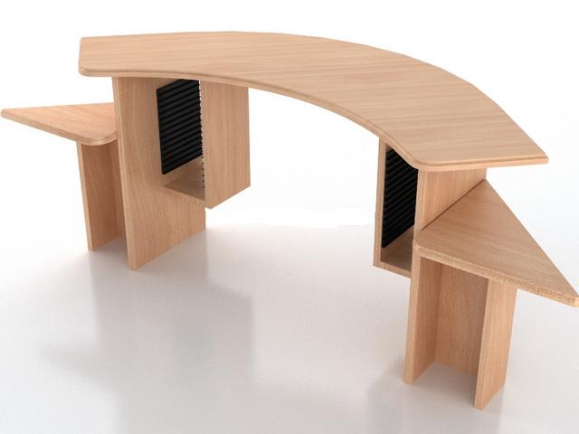 office furniture reception desk 3d model - Office Models Photos
