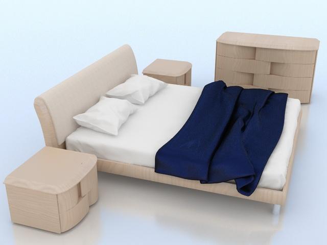 Modern bedroom furniture sets 3d model 3dsmax 3ds wavefront autocad