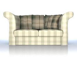 Fabric sofa loveseat 3d model