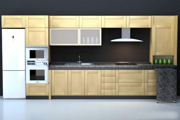 Modern Kitchen 3d Model integrated modern kitchen cabinet 3d model 3dsmax,3ds,wavefront