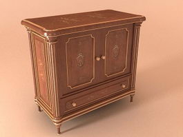 French antique cabinet 3d model