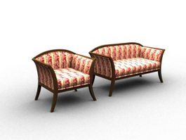 Settee sofa sets 3d model