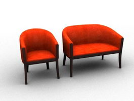 Traditional settee 3d model