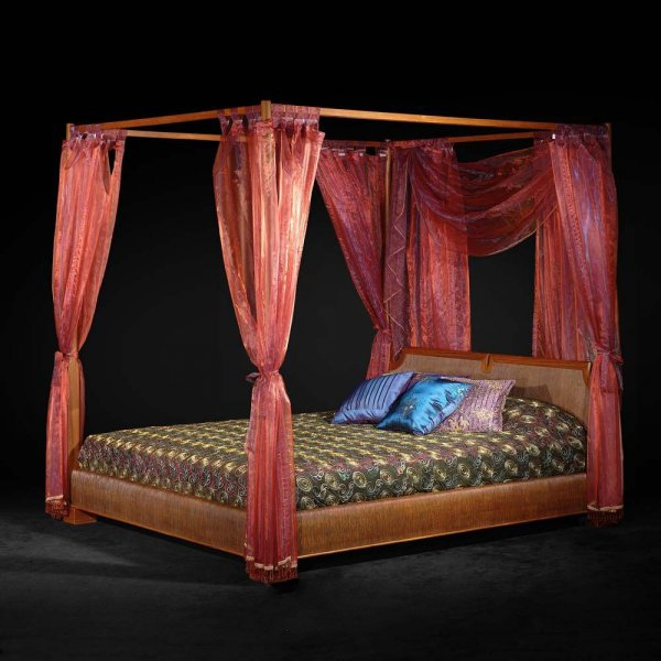 Asian Style Furniture Classic Canopy Bed 3d Model 3dsmax