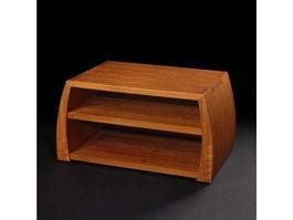 Classic bedside table 3d model