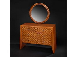 Asian classic dressing table 3d model