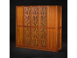 Classical bedroom wardrobe 3d model
