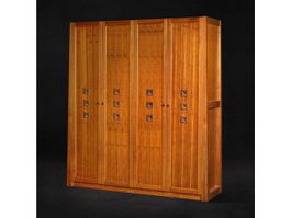 Antique style chinese wardrobe 3d model