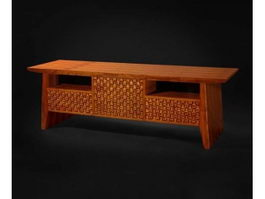Chinese antique side cabinet 3d model